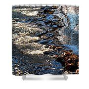 October Shimmers Shower Curtain