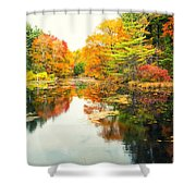 Octobers Paintbrush Shower Curtain