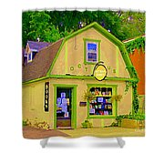 Octopus Bookstore 3rd Ave Bank Street Nepean The Glebe Paintings Of Ottawa Carole Spandau  Shower Curtain