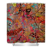 Octopus Illistration Shower Curtain