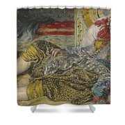 Odalisque Shower Curtain by Pierre Auguste Renoir