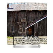 Odd Fellows Historical Building Shower Curtain