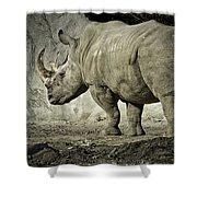 Odd-toed Rhino Shower Curtain