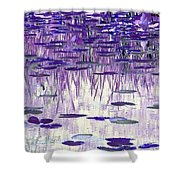 Ode To Monet In Purple Shower Curtain
