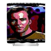 Ode To Star Trek Shower Curtain by John Malone