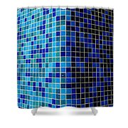 Ode To Steve S.   Corner In Blue Shower Curtain