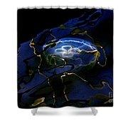 Odyssea Moon Jellyfish 1 Shower Curtain