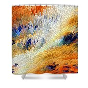 Odyssey - Abstract Art By Sharon Cummings Shower Curtain