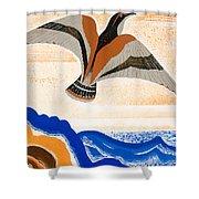 Odyssey Illustration  Bird Of Potent Shower Curtain
