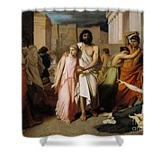 Oedipus And Antigone Or The Plague Of Thebes  Shower Curtain