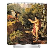 Oedipus And The Sphinx Shower Curtain