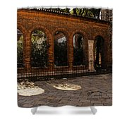 Of Courtyards And Elegant Arches  Shower Curtain