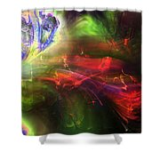Of Frogs And Flowers Shower Curtain