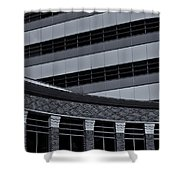Of Lines And Curves  Mono Shower Curtain