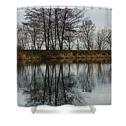 Of Mirrors And Trees Shower Curtain