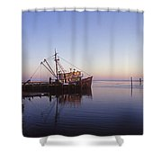 Of Rust And Salt Air Shower Curtain