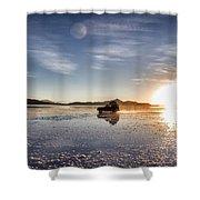 Off Road Uyuni Salt Flat Tour Dramatic Shower Curtain