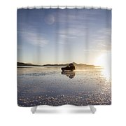 Off Road Uyuni Salt Flat Tour Shower Curtain