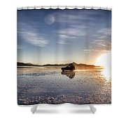 Off Road Uyuni Salt Flat Tour Select Focus Shower Curtain