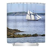 Off Saint-malo Shower Curtain