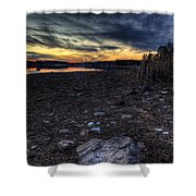 Off Season Sunset Shower Curtain