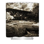 Off The Delaware River Shower Curtain