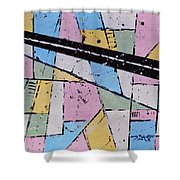 Off The Map Shower Curtain
