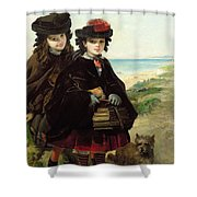 Off To School, 1860 Shower Curtain