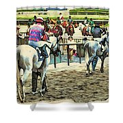 Off To The Race Shower Curtain