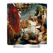 Offering To Ceres Goddess Of Harvest Shower Curtain