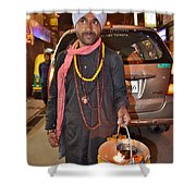 Offerings To Sani - Saturn - Pahar Ghanj Market - New Delhi Shower Curtain