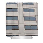 Office Building Windows Shower Curtain