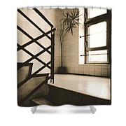 Office Plant Shower Curtain