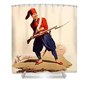 Officer Of European Infantry Of Ottoman Shower Curtain by Thomas Charles Wageman