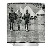 Officers At Camp Newayo, New York State Shower Curtain