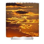 Ograzhden Mountain Sunset Shower Curtain