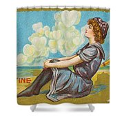 Oh Be My Valentine Postcard Shower Curtain