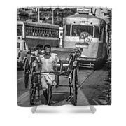 Oh Calcutta Monochrome Shower Curtain