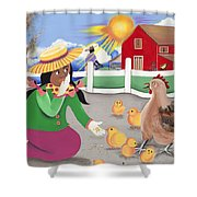 Oh Chick Shower Curtain