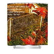Oh How I Love Autumn With Poetry Shower Curtain