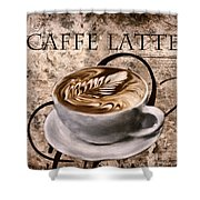 Oh My Latte Shower Curtain by Lourry Legarde