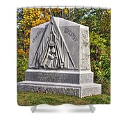 Ohio At Gettysburg - 29th Ohio Volunteer Infantry Autumn Mid-afternoon Culp's Hill Shower Curtain