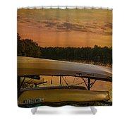 Ohio Autumn In Orange Shower Curtain