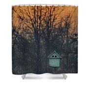 Ohio Bird House At Sunset Shower Curtain