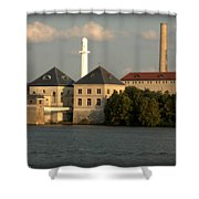 Ohio River Bank Shower Curtain