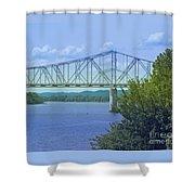 Ohio River Crossing Shower Curtain