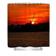 Ohio River Sunset Shower Curtain