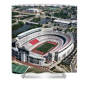 Ohio Stadium Aerial Shower Curtain