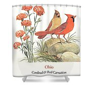 Ohio Stamp First Day Of Issue Shower Curtain