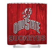 Ohio State Buckeyes Barn Door Shower Curtain